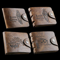 Wholesale 2016 New Brand Cowboy Mens High Quality Leather Wallet Pockets Card Clutch Cente Bifold Purse Coin Holder For Men