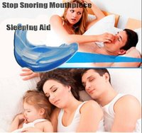 Wholesale STOP SNORING Anti Snore Soft Silicone Mouthpiece Apnea Guard Bruxism Tray Night Sleeping Aid p l