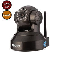 Wholesale ESCAM Pearl QF100 Megapixel HD x p H Wireless Wired Pan Tilt IP Camera with IR Cut Filter Night Vision and mm Lens