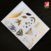 Wholesale 2015 Flash tattoo stickers waterproof sexy tattoo stickers metallic temporary tattoo KB007