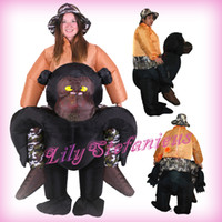 Wholesale Adult Chub King Kong Chimpanzee Riding Inflatable Clothing Blow Up Color Full Body Christmas Halloween Cosplay Costume Jumpsuit Fat Suit