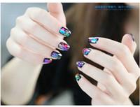 Wholesale colors for choice cm Holographic Nail Foils Starry Sky Glitter Foils Nail Art Transfer Sticker Paper piece