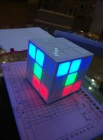 Wholesale Magic Cube LED Light Gradual Changing Mini Wireless Bluetooth Portable Decoration Speaker Player With Aux for note4 Q88 DHL FREE Buy Hot