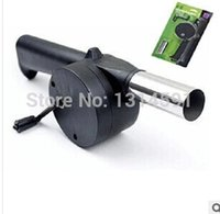 Wholesale 3 Air Blower For Barbecue Fire Bellows Hand Crank Brand New Barbecue tools Cooking Ferramentas para churrasco Sopradores