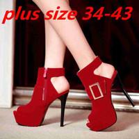 High Heels Women Heels Spring Round Toe Flock Wedding Platform Stiletto Sexy High Heels Large Size