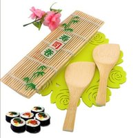 Wholesale Sushi Rolling Roller Bamboo Material Mat Maker DIY and A Rice Paddle ss938