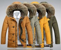 Wholesale 2015 NEW Winter Men s White Duck Down Clothing Outdoor sports parka Men Hooded fur Middle Long Jackets Casual Warm Overcoats