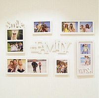 Wholesale 7pcs Frames albums picture frames combination home decoration wall photo frames
