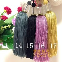 ball fringed curtains - Curtain accessories box crystal ball hanging curtains hanging ear lob lace fringed DIY decoration small price