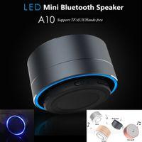 aluminum seal rings - A10 Mini Protable Speaker Aluminum Metal Bluetooth Speaker with LED Light Ring Super Bass Subwoofer Mini Wireless Stereo Speake
