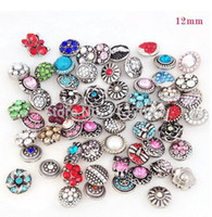 Wholesale 12mm mini snap button Mixed colors charms fit ginger snap button bracelet jewelry gift free ePacket ship