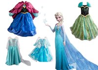 Wholesale Retail frozen dress New girls clothing Elsa Anna frozen Dress For Girl Princess Dresses party costume