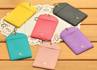 Wholesale New cute Chain with beads clip luggage tag card pocket Gift