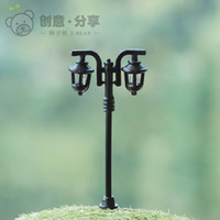arts craft lamp - artificial mini Street lamps ornaments fairy garden miniatures gnome moss terrarium decor resin crafts bonsai home decor Zakka