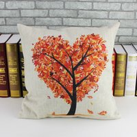 Wholesale 2014 the newest style ikea pillow cover bolster sofa chair cushions case fashion cushions orange tree cotton Linen Cloth