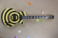 al por mayor guitarras de zakk wylde-Freeshopping pickup EMG para Zakk Wylde Custom Bullseye negro + estilo amarillo Guitarra Eléctrica HOT SELL