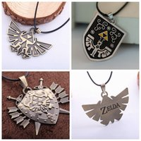 Wholesale The Legend of Zelda Pendant Necklace Triangle Mark Necklace The Triforce Necklace Metal Figure Pendant Necklace Styles high quality