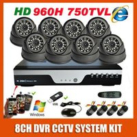 Cheap Best HD Sony 960H Effio 750TVL Indoor Night Vision Video Surveillance Camera 8CH CCTV System Kit Security Camera System