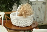 willow basket - fashion primaries double basket rustic willow storage basket picnic basket