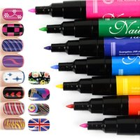 Wholesale New Colors Nail Art Pen Painting Polish Dot Drawing UV Gel Design Manicure Acrylic Paint Tool DIY Decoration