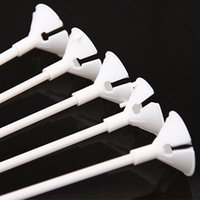 balloon holder sticks - sets cm latex Balloon Stick white PVC rods for Supplies Balloons Holder Sticks with cup party decoration accessories