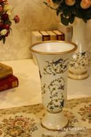 Wholesale European high grade retro vase flower holder living room Decoration wedding gift ceramic vases set