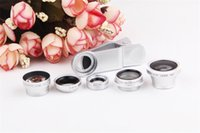 Wholesale Universal in Clip On Wide Angle Lens Fish Eye Lens Marco Lens X telephoto Lens Polarizer Lens For iPhone6 Plus S5