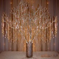 crystal beads strands - Crystal Prism Bead Chain Wedding Garland Christmas Tree Crystal Hung Strands Strung