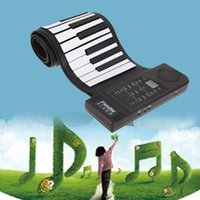 Wholesale EU Plug Portable USB Handscroll Piano Key Stereo Keyboard Midi Interface Extension Roll Up Piano Kids Musical Instrument Toy