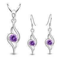 yiwu market - 601 Yiwu Meng light jewelry Korean Crystal Necklace Earrings Set Angels accessories market