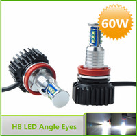 Wholesale New High Power W Cree Angel Eyes Led H8 for BMW E60 E63 E70 E71 E82 E87 E89 E90 E91 E92 E93