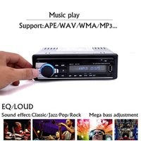 Wholesale Car Radio Bluetooth Stereo Phone AUX IN MP3 Player Radios FM Transmitter USB Din Remote Control For iPhone V Car Audio Auto stereo