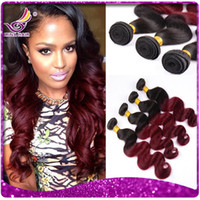 beauty bundles - Irina Beauty Hair b burgundy Ombre Brazilian hair two tone Body Wave Hair Weaves full bundles inch ombre Human Hair Extensions
