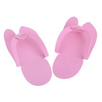 foam pedicure slippers - 12 Pair Disposable Slippers Soft Flip Flop Foam Slipper For Pedicure Salon Foot Spas Foot Care Tool H14693