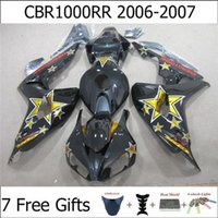 plastic injection molding - For Honda CBR1000RR CBR RR Motorcycle Fairing Kits Black Yellow Star Free Gifts Injection Molding ABS Plastic