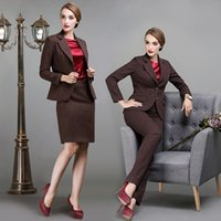 Wholesale The high end color twill wool double breasted suit pants suit dress