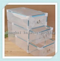 clear plastic shoe box - Transparent Foldable Storage Box Plastic Clear Shoes Storage Box Drawer Type Man Size x20x11 cm