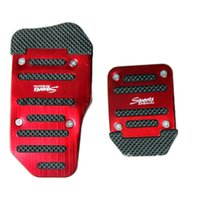 Wholesale New Aluminum Series Pieces Red Non Slip Car Pedal Cover Set Kit hot selling YKS