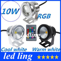 Wholesale LED W V RGB Cool White Warm White LED Underwater Light Lamp IP68 Diving Flashlight For Swiming Pool Piscina Aquarium Fountain CE ROHS