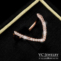 Wholesale Finger Ring for Women Gold Plated Modern Design Geometric Shape Inlay Small Crystal VR Vocheng Jewelry
