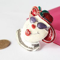 christmas brooch - Christmas Style Silver Plated Rhinestone Alloy Enamel Frosty The PSY Snowman Pin Brooch