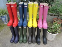 Ms. glossy Rain Boots Waterproof Women Wellies Boots Woman Rain Boots High Boot Rainboots Hot Sale 7 Colors