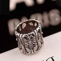 Wholesale European Retro Punk Silver Cross Ring For Women Men HOT SALE Fashion Jewelry