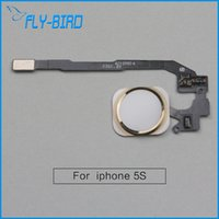 Wholesale For iPhone S Home Button Key Flex Brand New High Quality Home Button Flex Cable Replacement Free Ship
