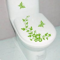 Wholesale Butterfly Flower Laptop Bathroom Toilet Wall Decals Sticker Home Decoration DIY