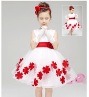 baby girl wedding dress - Large size High quality Children s Dresses COLOR bowknot belt Girls Kids Baby Bridesmaid Wedding Party DRESS Flower Bow Pricess Dress