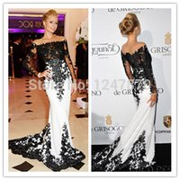 Cheap Star Inspired Scoop Mermaid Long Sleeve Lace Robe De Soiree Avondjurk Evening Dress LS091334