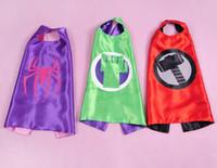 Wholesale 2015 kids superman cape superhero cape children boy costume for children halloween party costumes captain capes cloaks star wars cape
