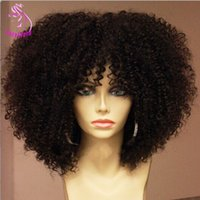 Wholesale Short Kinky Curly Lace Front Wigs Brazilian Glueless Full Lace Human Hair Wigs Unprocessed Afro Kinky Curly Wig For Black Women