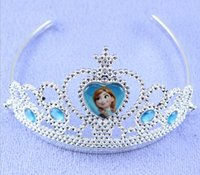 tiaras for kids - 2015 New Tiaras Retail Quality Frozen Anna Elsa Princess Dresses Tiara Crown Hair Accessory Crystal Cubic Zirconia For kids Girls CS21